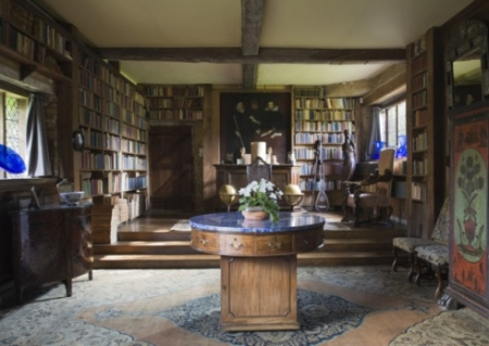 The Long Library at Sissinghurst Castle. Picture by NTPL/John Hammond.