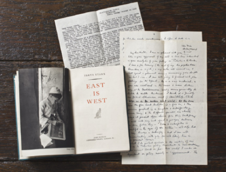 Letters and other ephemera were stored in the books.