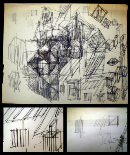 Cooper's brainstorming sketches for MIT Press colophon.