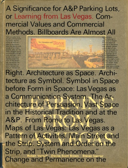 Muriel Cooper for Robert Venturi, Denise Scott Brown, and Steven Izenour, A Significance for A&P Parking Lots, or Learning from Las Vegas (Cambridge: MIT Press, 1972).