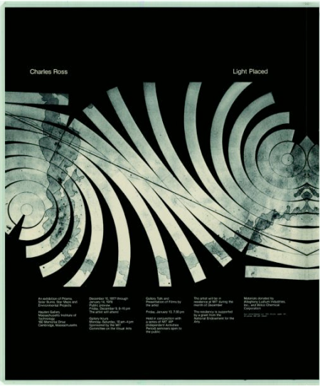 Charles Ross: Light Placed poster, 1977.