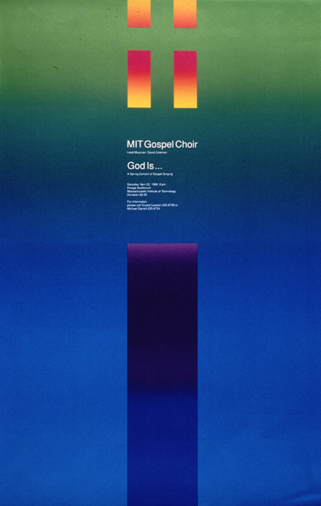 Gospel concert at Kresge Auditorium, MIT, 1989.